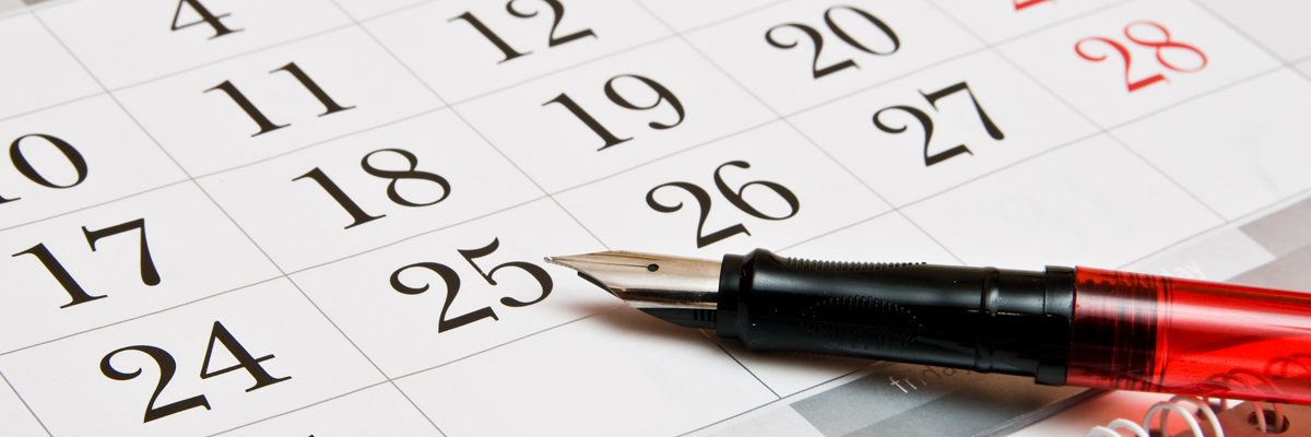 Calendar for GI Cancer