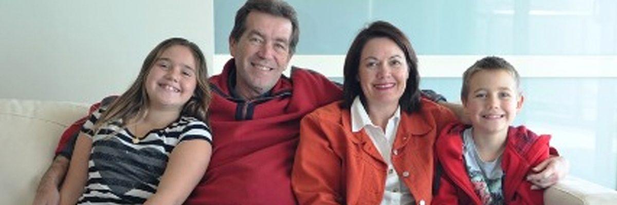 Liza Harvey and family
