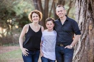 Sarah McGoram with her family