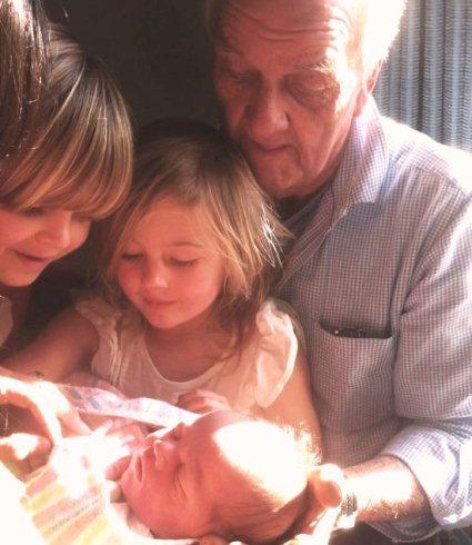 Nick Goodall with his grandchildren
