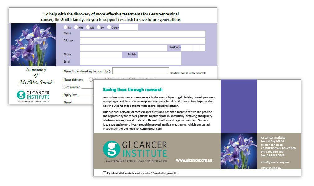 GI Cancer Donation Cards