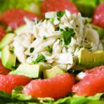 Crab Salad with Grapefruit, Avocado, and Baby Greens