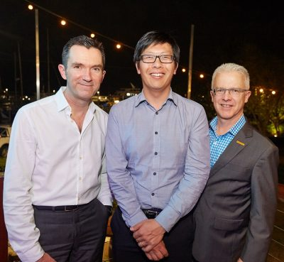 Prof Tim Price, Chair AGITG Board, Dr David Lau, & Mr Drew Young