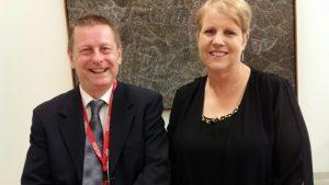 Andrew Clacher and Senator Catryna Bilyk