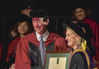 brian wall receiving doctorate
