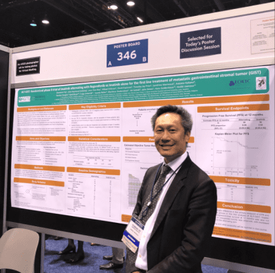 Professor Desmond Yip with the ALT GIST poster